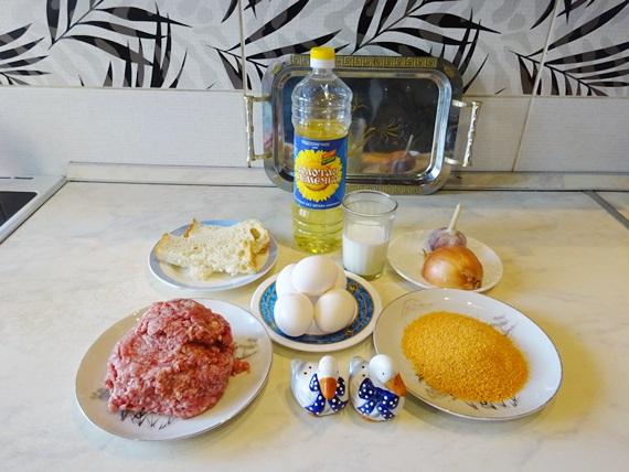 Мясные зразы с яйцом и луком. Готовим в духовке